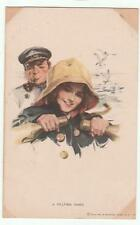Harrison Fisher Glamour Postcard A Helping Hand 388 Reinthal & Newman Vintage