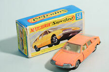 1969 Matchbox Superfast - No MB 56 / 4 BMC 1800 Pininfarina - Lesney Prod. OVP