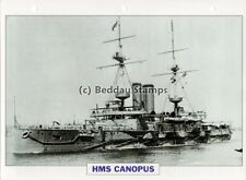 1897 HMS CANOPUS Battleship Capital Ship / GB Warship Photograph Maxi Card