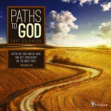 PATHS TO GOD - 2017 MINI WALL CALENDAR - BRAND NEW - INSPIRATIONAL SCENIC 387760