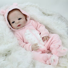 22'' Full Body Vinyl Silicone Reborn Baby Doll Lifelike Dolls Girl Toy 55CM