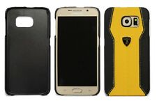 Lamborghini Huracan-D1 Leather Back Cover Case for Samsung Galaxy S6 -Yellow