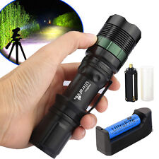 Tactical Zoomable CREE XML T6 10000Lumen Police Led Flashlight Torch Light 18650
