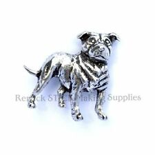 ONE PEWTER BADGE FOR WALKING STICK MAKING STAFFORDSHIRE BULL TERRIER