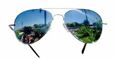 Small Aviator Glass Full Mirror Lens Sunglasses Top Gun