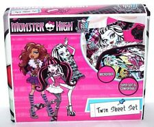 MONSTER HIGH TWIN BED SHEET MICROFIBER 3 PIECE SET BEDSHEET