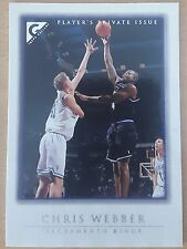 1999-00 Topps Gallery Player's Private Issue #23 /250 Chris WEBBER