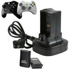 Dual Battery Charger Station Charging Dock for Microsoft Xbox 360 Controller New
