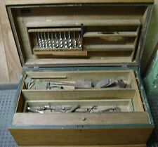 Antique Woodworker's Tool Chest / Carpenter's Box - Wood Auger Drill Bits
