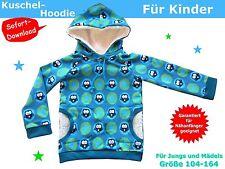 Kuschel-Hoodie/Kapuzenpulli für Kinder nähen, Schnittmuster und Nähanleitung