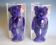 Ty Beanie Babies 1997 PRINCESS Two for One in Display Case with Tag Protector