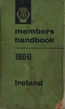 AA Automobile Association Members Handbook Ireland 1960-61 Hardback