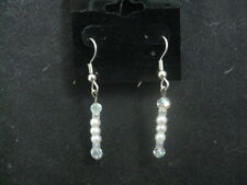 Fashion Jewelry Earrings (White Glass Beads) ~ Handcrafted ~ Gift Idea