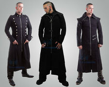 Men's Handmade Black Hooded Trench Coat Gothic Punk Long Jacket Styles
