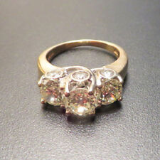 3 Carat Three Stone Round Diamond Engagement Ring