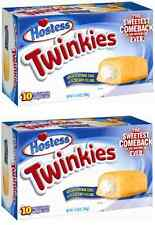 2 Boxes of Hostess Twinkies - 10 individually wrapped sponge cakes per box OFFER