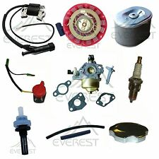 GX160 GX200 Recoil Carburetor Ignition Coil Spark Plug Air Filter Gas For Honda