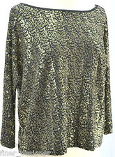 INC International Concepts gold sequin jersey knit Top shirt blouse sexy S NEW