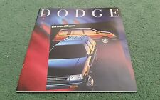 DODGE COLT WAGONS VISTA DL 1989 USA BROCHURE Mitsubishi Spacewagon Lancer Estate