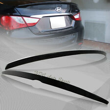 For 2011-2014 Hyundai Sonata Painted Black ABS Rear Trunk Duck Lid Spoiler Wing