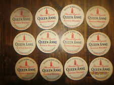 12 QUEEN ANNE 1960,s SCOTCH WHISKY collectable COASTERS
