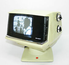 1970S SHARP 5P- Y B/W TELEVISION FERNSEHEN WORKING VINTAGE SPACE AGE