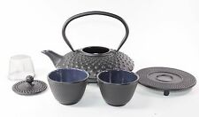 24 fl oz Black Dot Japanese Cast Iron Teapot Tetsubin Infuser Trivet Tea Set