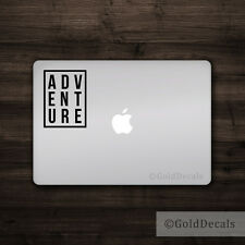 Adventure --- Vinyl Decal Mac Apple Logo Laptop Sticker Macbook Decal Travel