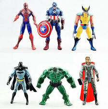 6 PIÈCES SET The Avengers Hulk+Capitaine+Carcajou+Batman+Spiderman+Thor Figurine
