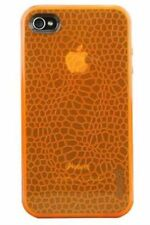 Gecko Gear Orange GLOW in the Dark Case - w/ Anti-Glare Guard for iPhone 4/4s