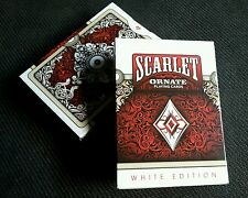 Scarlett Ornate Playing Cards Deck-- White Edition - HOPC SEALED