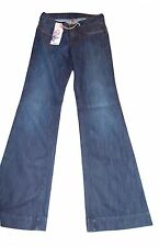 LOFLI Slim Fit Dark Wash Flare Jeans Size 26 Retail $90 New With Tags