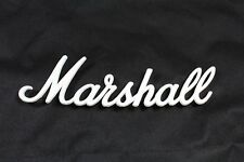 "Marshall Amplifier Logo Original 11"" White Script Replacement Cabinet Head NEW"