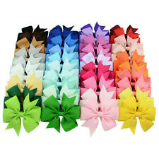 40pcs infant baby girl Grosgrain ribbon hair bows with clips toddler accessory
