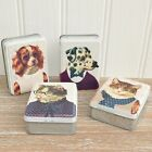 Retro Dress Up Cats & Dogs Trinket Storage Tin Shabby Vintage Chic Quirky Box