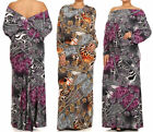 ANIMAL LEOPARD CHAIN ON OFF SHOULDER MULTI WAY REVERSIBLE OPEN BACK MAXI DRESS