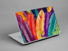 LAPTOP NOTEBOOK SKIN STICKER COVER DECAL COLORFUL FEATHER DELL LENOVO 17 inch