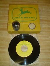 VINTAGE JOHN DEERE FILM STRIP 45 RECORD COMBINE & ATTACHMENTS ANTIQUE VHTF RARE