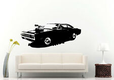 Wall Room Decal Vinyl Sticker American Muscle Old Antique Classic Sport Car L700