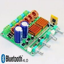 Bluetooth 4.0 Digital 2.1 Class D HIFI Power Amplifier Board 3CH Super Bass Ampl