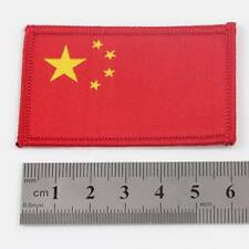 CHINA IRON ON 6.5cm x 4cm EMBROIDERED CHINESE NATIONAL FLAG PATCH BADGE 078