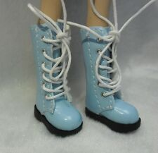 16cm Lati Yellow Basic Bjd Blythe Pullip 1/6 Doll Shoes PU Leather Boots BLUE
