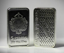 SILVER BULLION BAR 5 GRAMS