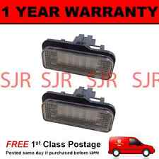 2X FOR MERCEDES C E CLASS ESTATE CLK SLK CLASS 18 WHITE LED NUMBER PLATE LAMPS