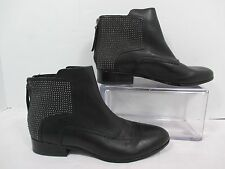 Pour La Victoire KEON Black Studded Back Zip Fashion Ankle Boots EUC Sz 7.5 M