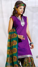 INDIAN PATIYALA SUIT-PARTY WEAR PUNJABI DRESS-DESIGNER COTTON SALWAR KAMEEZ