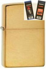 Zippo 168 brushed brass armor Lighter with *FLINT & WICK GIFT SET*