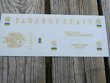 Schwinn Paramountain Bicycle Bike Decal Set Complete Water Transfer Decal NOS