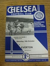 14/10/1967 Chelsea v Everton  (team changes). Unless stated previously in the de