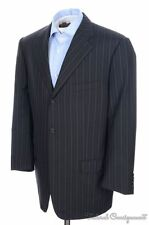 CORNELIANI Recent Black Striped 100% Wool Jacket Pants SUIT - EU 54  / US 44 L